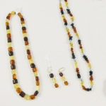 Amber necklace and earring